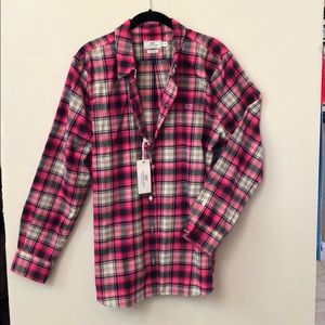 Vineyard Vines Performance Plaid Bttn - Size 16